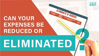 Cashflow Edit Workbook : Eliminate & Reduce