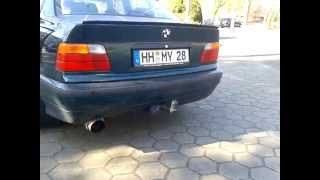 bmw e36 323 sound apex muffler without db eater