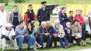 Сабантуй в Зеленодольске  Куреш  борьба за автомобиль 01 07 17