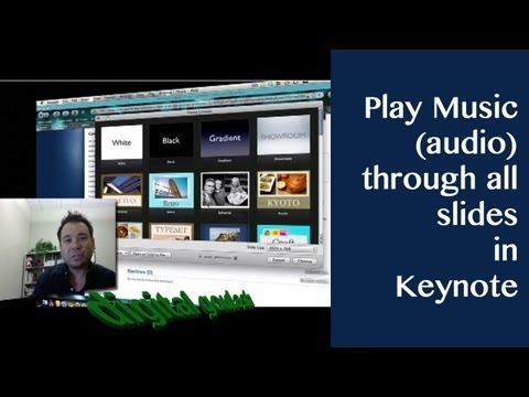 Keynote made easy - Play music (audio) through all slides