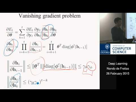 Deep Learning Lecture 12: Recurrent Neural Nets and LSTMs