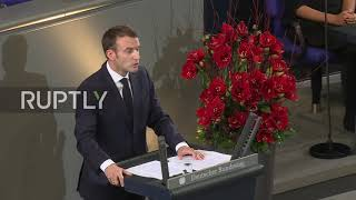 Germany: Macron calls for unity and