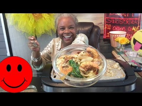 SHRIMP SCAMPI WITH CHICKEN AND SPINACH || HOW TO MAKE | MUKBANG (EAT WITH ME )