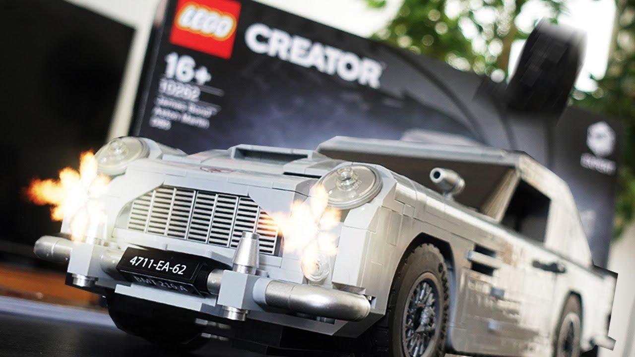 lego james bond auto mit funktionierenden gadgets! (aston martin db5