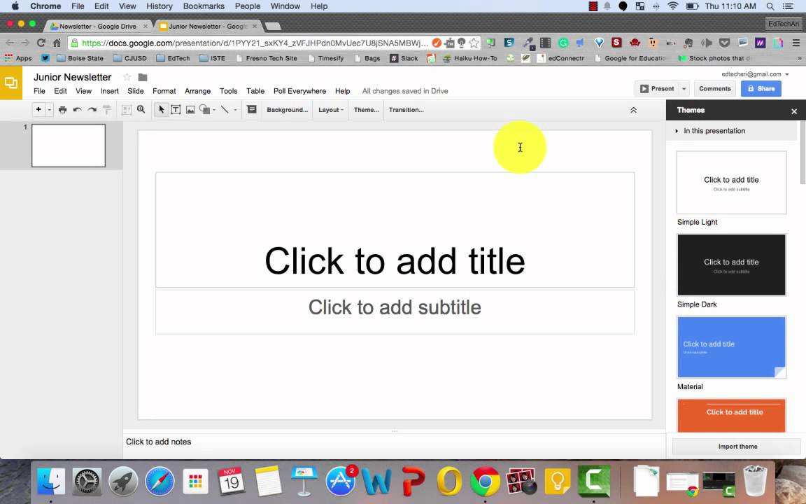 How To Make A Newsletter With Google Slides YouTube - How to create a newsletter in google docs