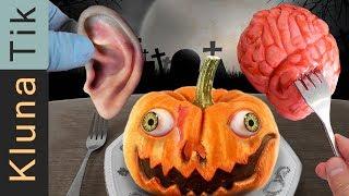 HALLOWEEN ASMR MUKBANG (SCARY RECIPES) 😈🦇🎃    KLUNATIK 2 2019   ASMR eating sounds no talk