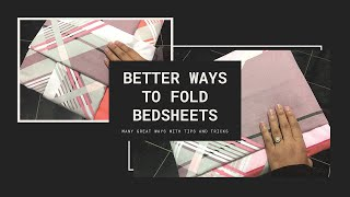 Better ways to fold bed sheets   Tips and tricks to fold bed sheets   Bed sheet folding techniques