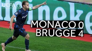 MONACO 0-4 BRUGGE #UCL HIGHLIGHTS