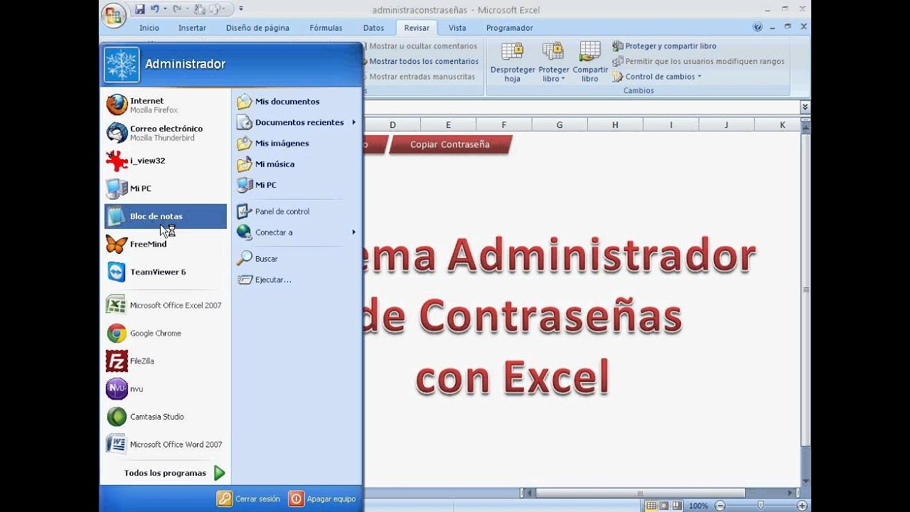 plantilla administrador de contraseñas con Excel descarga en jfksoft ...