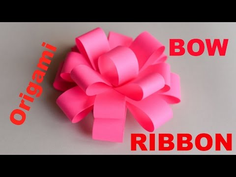 How to make Origami Bow/Ribbon - Easy Origami Ribbons for Beginners - Easy Paper Ribbon Step by Ste