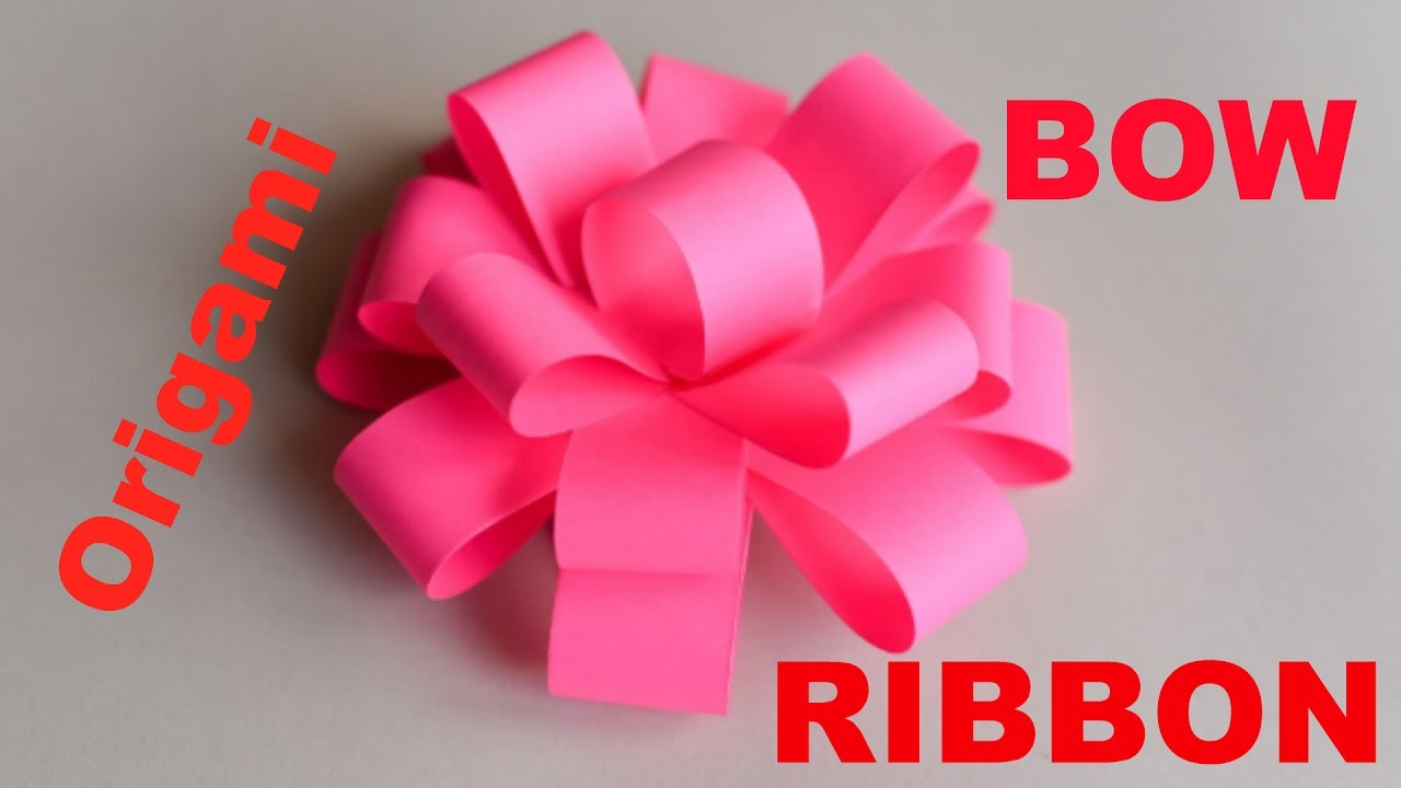 How To Make Origami Bowribbon Easy Origami Ribbons For Beginners