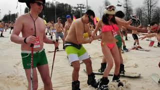 Карнавал Бугель Вугель (Роза Хутор): спуск в купальниках!