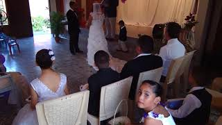 The wedding of Gabriel and Consuelo at the Children of Love Foundation in La Paz Honduras. January 31, 2020.