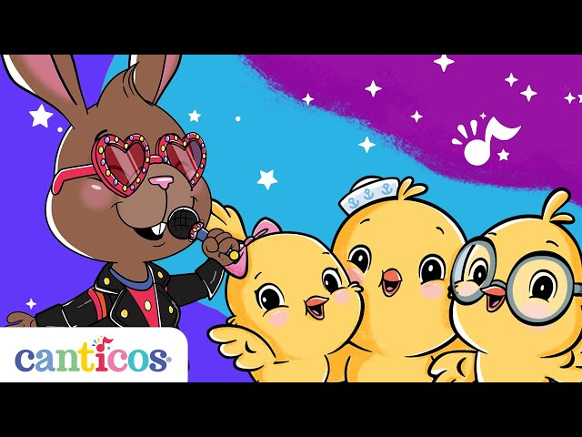 Canticos | 15 minutes of Nursery Rhymes in English and Spanish | Sing with Sammy the Bunny