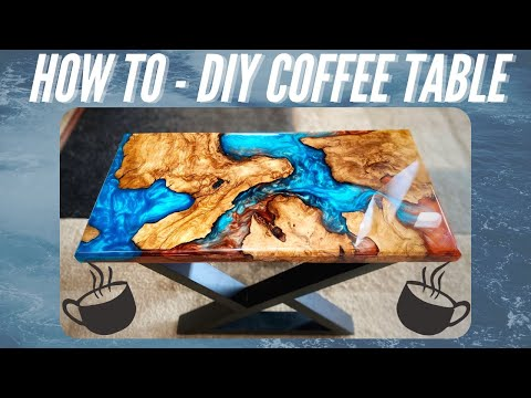 DIY Coffee Table - How To Use Epoxy Resin - How To Woodworking
