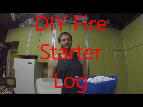 DIY Fire Starter Log