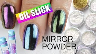 Oil Slick Mirror Powder Swatches & Review