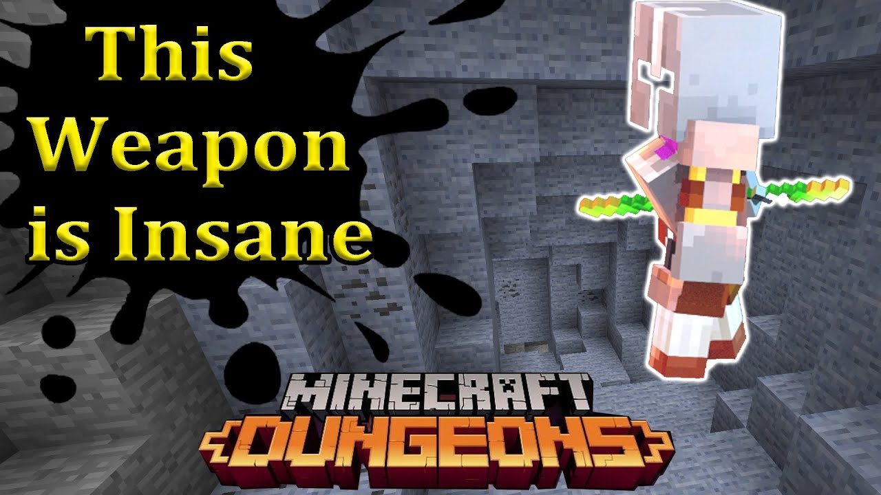 Best weapon in the game!?! Growing Staff Build Minecraft Dungeons