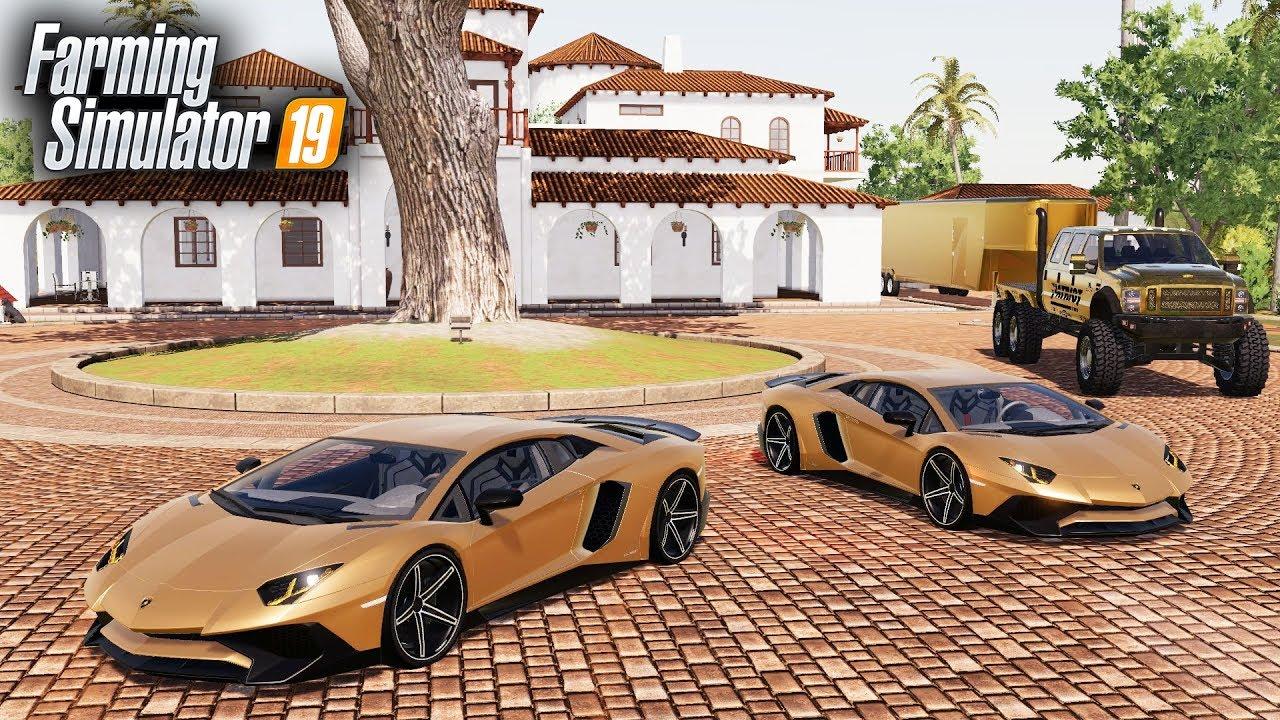 FS19- PURCHASING TWO NEW LAMBORGHINI AVENTADORS ($420,000)   ALL GOLD  VEHICLES