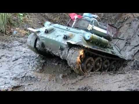 Rusian built 1:6 scale T34/85  tank shot with Fuji Video Bridge camera