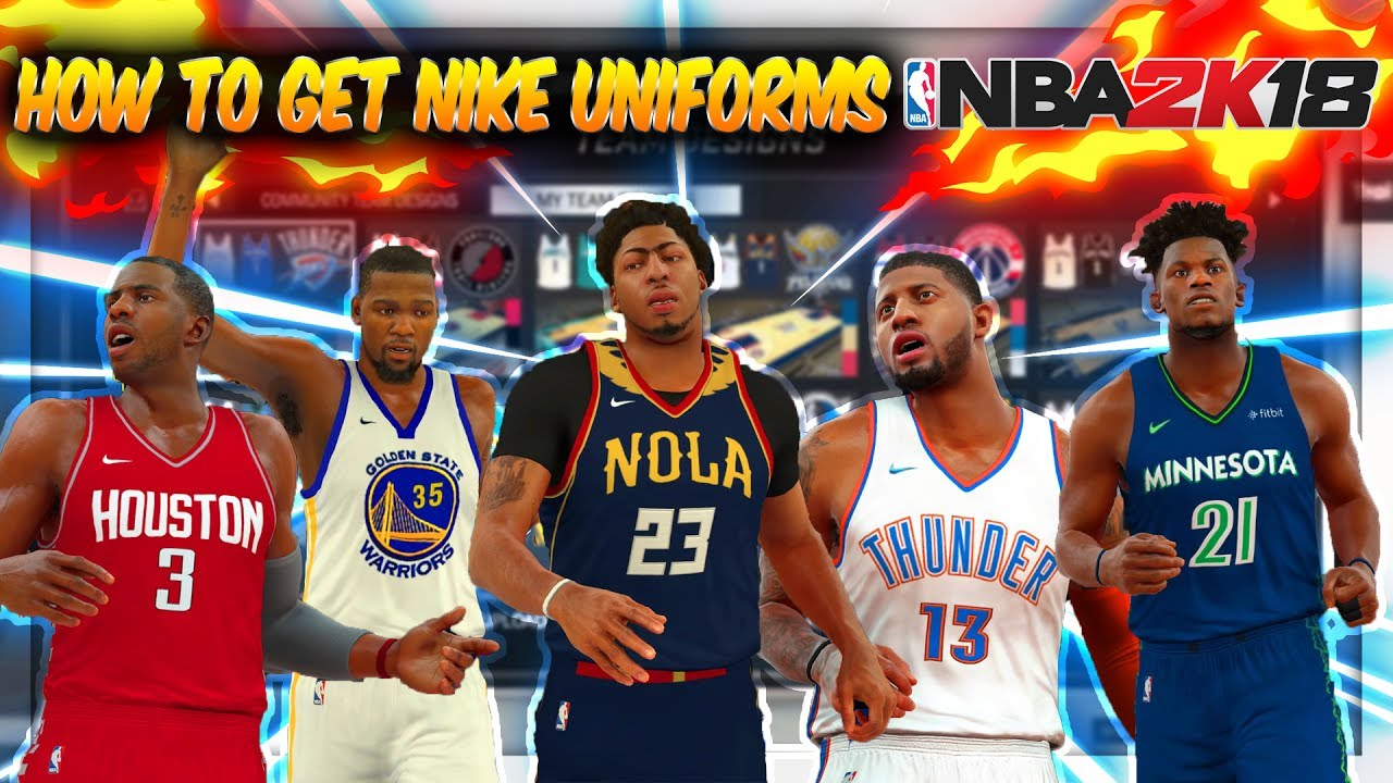 How To Get Nike Jerseys For NBA Teams on NBA 2K17 - YouTube