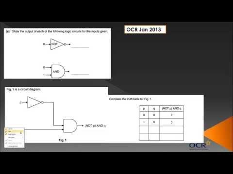 OCR GCSE Computing: Binary Logic Circuits - Topic 3