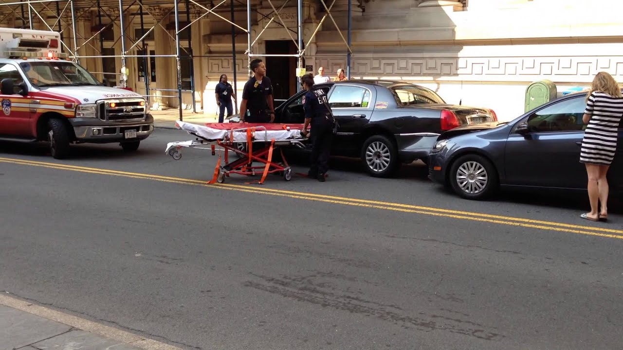 Fdny Ems Nypd On Scene Of Motor Vehicle Accident With 1