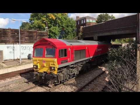 (HD) DB Cargo 59202 arrives into Acton Yard - 28/9/17