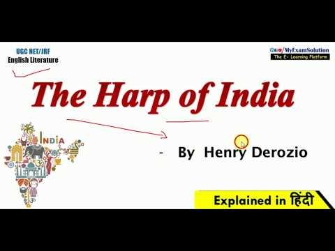 The Harp Of India Summary In Hindi   Henry Derozio   English Literature Explanation & Analysis