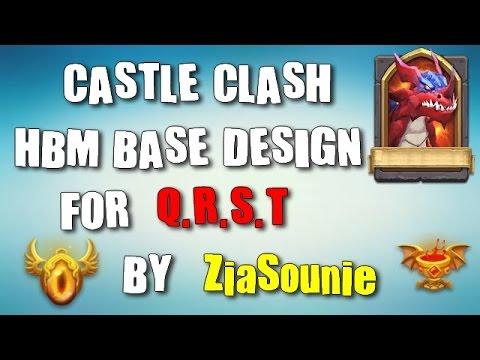 Castle Clash | Best HBM Q-R-S-T Base Design  Must See