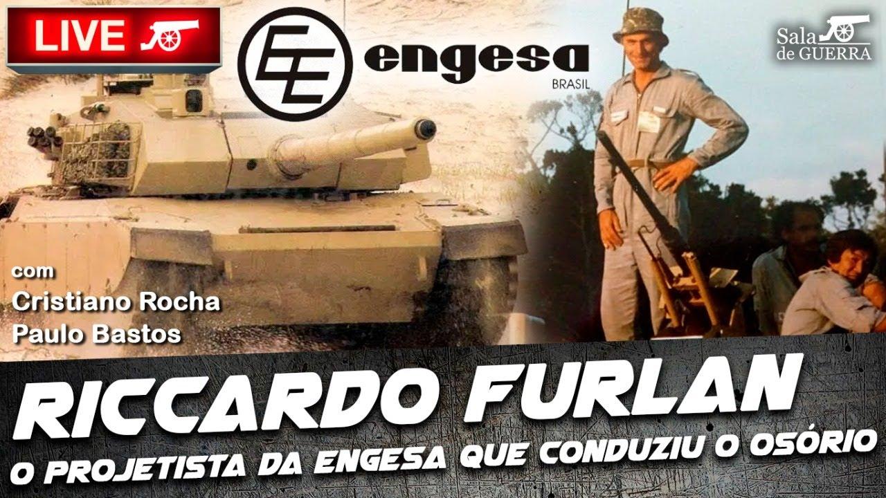 🔴 SdG LIVE - Riccardo Furlan: o projetista da Engesa que conduziu o Osório