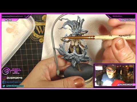 Painting Kingdom Death Flower Witch #skintones #figurines #miniature