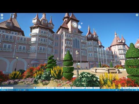 Let's Play Planet Coaster Episode 13 - Park Entrance & Hotel
