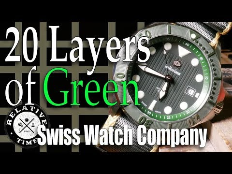 20 Layers Of Green, A Tale Of Illumination.  Swiss Watch Company Diver Review Hulk Green