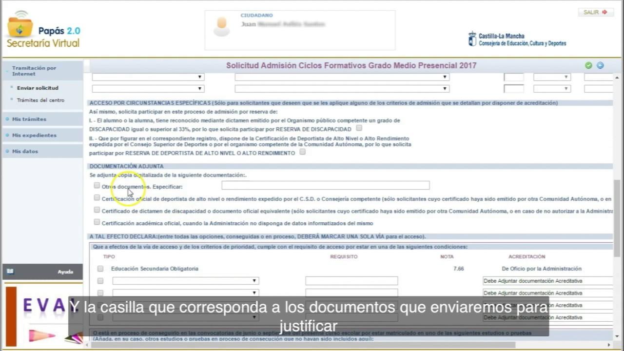 Vídeo Tutorial Admisión Fp En Castilla La Mancha Papás