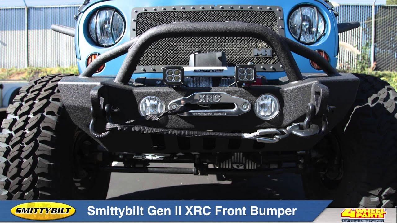 Jeep Wrangler Jk Front Bumper >> Smittybilt Gen ll XRC Front Bumper - YouTube