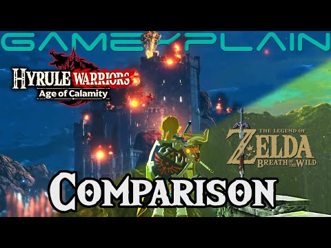 Breath of the Wild vs Hyrule Warriors: Age of Calamity - See the 100 Year Difference! (Comparison)