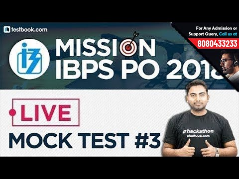 Mission IBPS PO Mains 2018 | General Awareness Live Mock Test 3 for IBPS PO 2018 with Abhijeet Sir