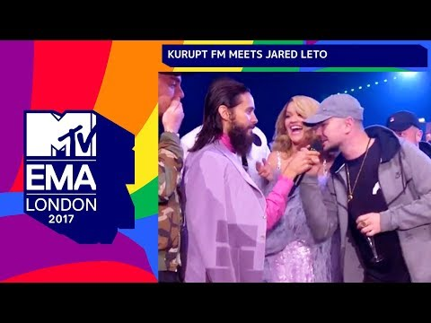 Jared Leto Meets Kurupt FM | | MTV EMAs 2017