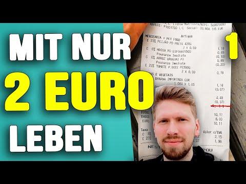 MIT NUR 2 EURO AM TAG LEBEN! 14 Tage Geld sparen - Minimalismus Challenge - Tag 1