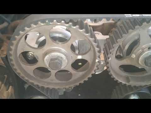 Установка ГБЦ и ремня ГРМ двигателя F16D3