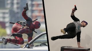 Stunts from Deadpool In Real Life (Parkour, Tricking)