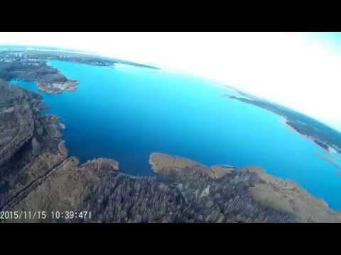 XK detect X380 + SJCAM SJ4000 High altitude test