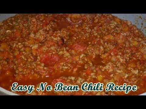 Easy No Bean Chili Recipe