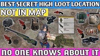 Best secret high loot location in PUBG MOBILE || FLARE GUN secret location