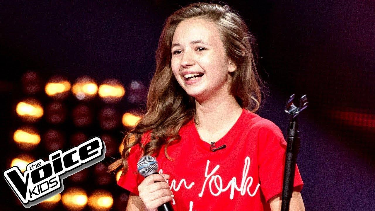 """Anna Dąbrowska - """"Hurt"""" - Przesłuchania w ciemno - The Voice Kids Poland 2"""