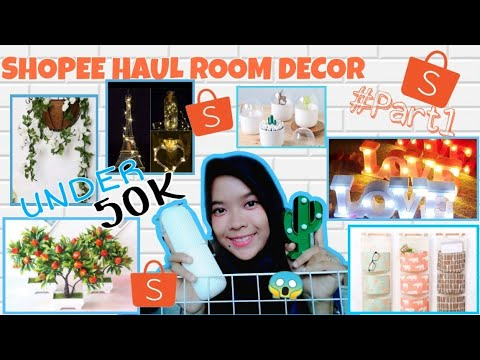 haul    room decor shopee #part1 aesthetic    murah