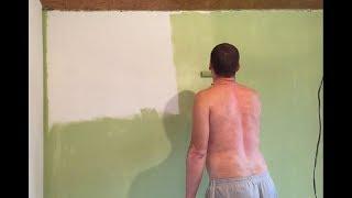 Покраска Стен - Фасада Водоемульсионкой Своими Руками. (#Стройка Руками)