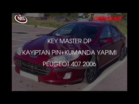 KEY MASTER DP 2006  Peugeot 407 Kayıptan Pin+ Kumanda Yapımı