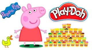 Видео для детей Лепим из пластилина Плей До Свинку Пеппу на русском Play Do Peppa Pig